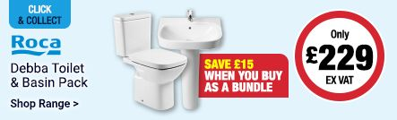 Roca Toilet & Basin Pack Only £229