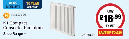 K1 Radiators Only £16.99 Save up to £20