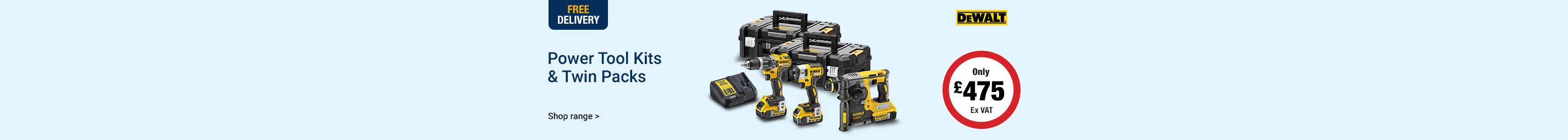 Power Tool Kits & Twin Packs
