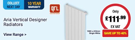 Save up to 40% on Aria Designer radiators!