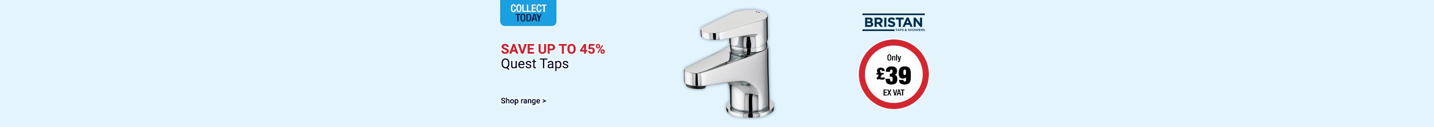 Save up to 45% on Bristan Quest Taps