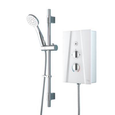 Electric Shower 8.5kW, White | City Plumbing Supplies