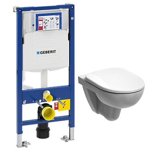 Geberit duofix wc cistern wall frame twyford e100 for Geberit toilet system