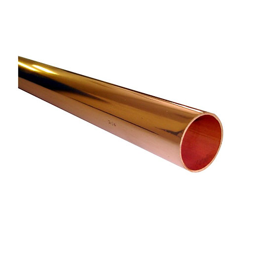 Wednesbury copper pipe plain length 15 mm x 3 m length for Table y copper tube