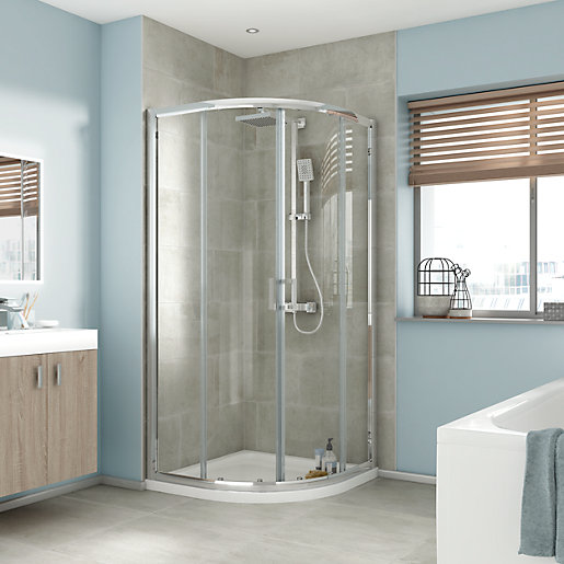 iflo Edessa Quadrant Shower Enclosure 900 x 900mm | City Plumbing ...