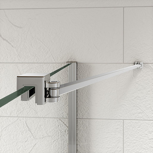 Kudos Ultimate2 Shower Enclosure Panel Angled Glass To