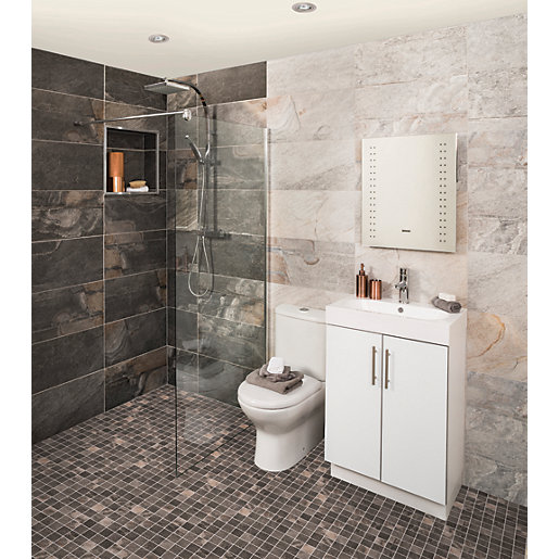 Aspen Silver Grey Textured Wall Amp Floor Tile 598 X 298mm
