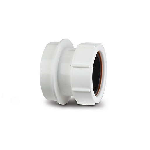 Polypipe Psn64w White Soil 40mm Straight Adaptor City