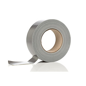 4Trade Duct Tape Cloth Roll PVC 48 mm x 50m (Silver/Grey)