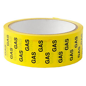 Rothenberger Gas ID Tape Black on Yellow 33m x 38mm