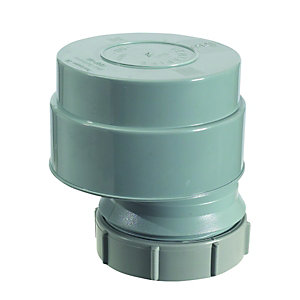 McAlpine Ventapipe 50 Air Admittance Valve with 2in Universal Outlet Grey VP50