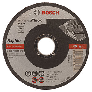 Bosch 115mm Standard Cutting Disc for Inox Rapido