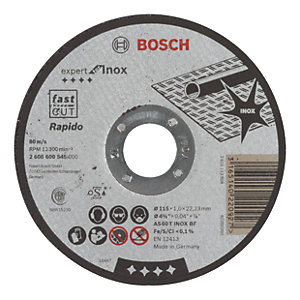 Bosch 2608600545 Straight Cutting Disc - 115 x 22.2 x 1mm