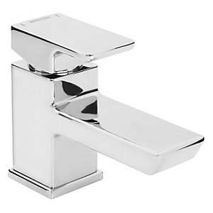 Bristan Cobalt Mono Basin Mixer Tap with Clicker Waste Chrome COB BAS C