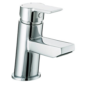 Bristan Pisa Basin Mixer with Clicker Waste Chrome Ps Bas C