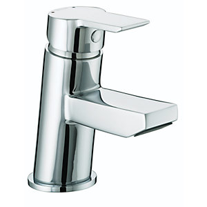 Bristan Pisa Small Basin Mixer with Clicker Waste Chrome Ps Smbas C