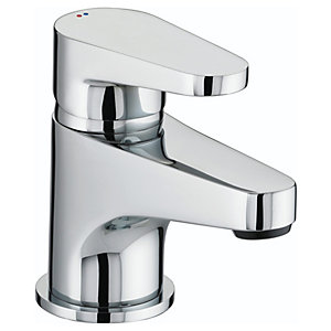 Bristan Quest Basin Mixer Tap with Clicker Waste QST BAS C