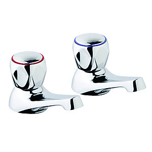 Base Basin Pillar Taps (Pair)