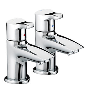 Bristan CAP 1/2 C Capri Basin Pillar Taps Chrome