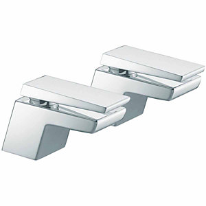 Bristan Fortana Basin Pillar Taps Chrome