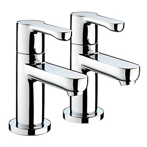 Bristan NR 1/2 C Nero 1/2 Basin Pillar Taps (Pair) Chrome