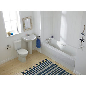 Ideal Standard Sandringham Smooth 4PIECE with Seat and Basin Waste