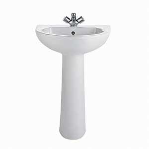 Twyford Option 1 Taphole Basin 500 mm Ot4211Wh