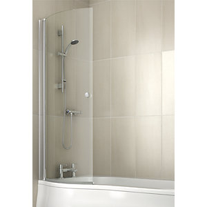 Iflo Rennes Curved Bath Shower Screen 1500 x 691 mm