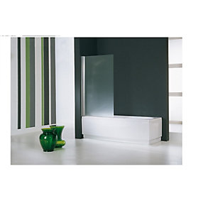 Novellini Aurora 1 Bath Shower Screen 1500 x 700 mm AURORAN170-1K