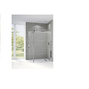 Novellini Go 2 Flipper Panel Shower Screen 2080 x 370 mm GONAM-1K