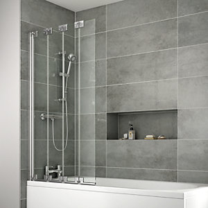 iflo Edessa 4 Fold Bath Screen 1475 x 850 mm
