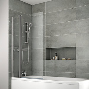 iflo Edessa Double Folding Bath Screen 1400 x 910 mm