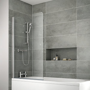 iflo Edessa Single Panel Bath Screen 1400 x 910 mm