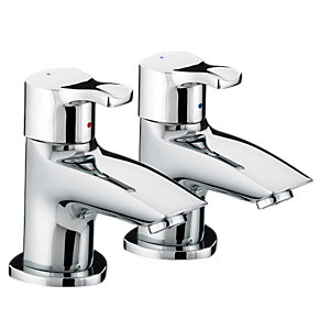 Bristan CAP 3/4 C Capri Bath Pillar Taps Chrome