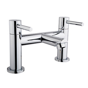 iflo Aura Deck Bath Filler Tap Brass