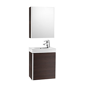 Roca Mini 855866154 Unit Pack With Mirror Cabinet Wenge
