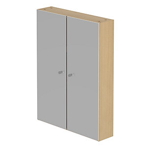 Be Modern Atlanta Sorrento Tall Wall Unit 800 x 600 x 150 mm (2 Mirror Door) R60TWMSLFOAK