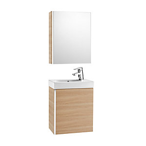 Roca Mini 855866155 Unit Pack With Mirror Cabinet Oak