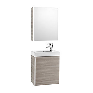 Roca Mini 855866156 Unit Pack With Mirror Cabinet Grey