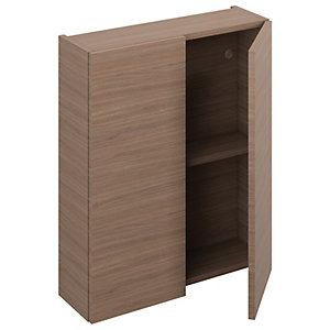 iflo Aliano Wall Unit Walnut Including 2 Doors 600 x 190 mm