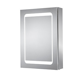 iflo Anora LED Dual-lit Bathroom Wall Glass Mirror Cabinet 700 x 500mm