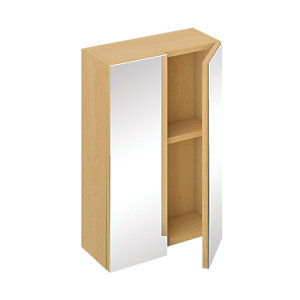 iflo Trapini Mirrored Cabinet Oak 400 x 250mm