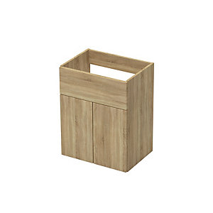Atlanta 600 Wash Basin Unit With Legs Natural Oak