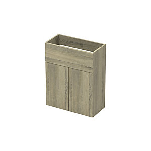 Slim 500 Wash Basin Unit with Legs Truffle Oak