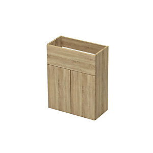 Slim 600 Wash Basin Unit With Legs Natural Oak
