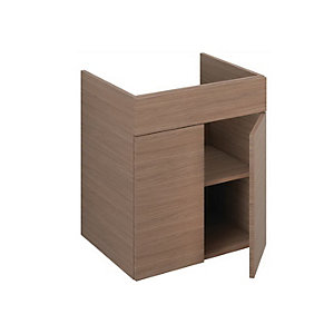 iflo Aliano Semi-recessed Base Unit Walnut 600 x 480mm