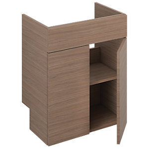 iflo Aliano Walnut Base Unit and Doors with Pre-cut Service Void 600 x 380 mm