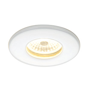 Hib 5770 Warm White Led Fire Rated White Showerlight Width 85 mm