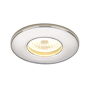 Hib 5780 Warm White Led Fire Rated Chrome Showerlight Width 85 mm
