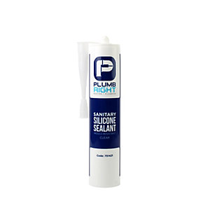 Plumbright Sanitary Silicone Sealant Clear 310ml